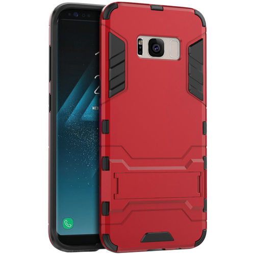 Slim Armour Tough Shockproof Case for Samsung Galaxy S8 - Red