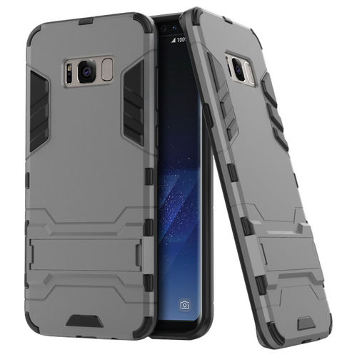 Slim Armour Tough Shockproof Case for Samsung Galaxy S8+ (Grey)