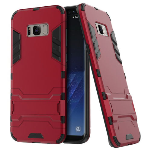 Slim Armour Tough Shockproof Case for Samsung Galaxy S8+ (Red)