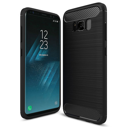Flexi Slim Carbon Fibre Tough Case for Samsung Galaxy S8 - Black
