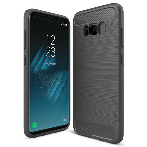 Flexi Slim Carbon Fibre Tough Case for Samsung Galaxy S8 - Grey