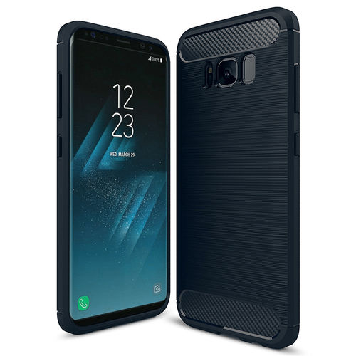 Flexi Slim Carbon Fibre Tough Case for Samsung Galaxy S8 - Blue