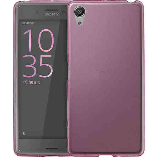 Flexi Gel Case for Sony Xperia X Performance - Smoke Pink (Two-Tone)