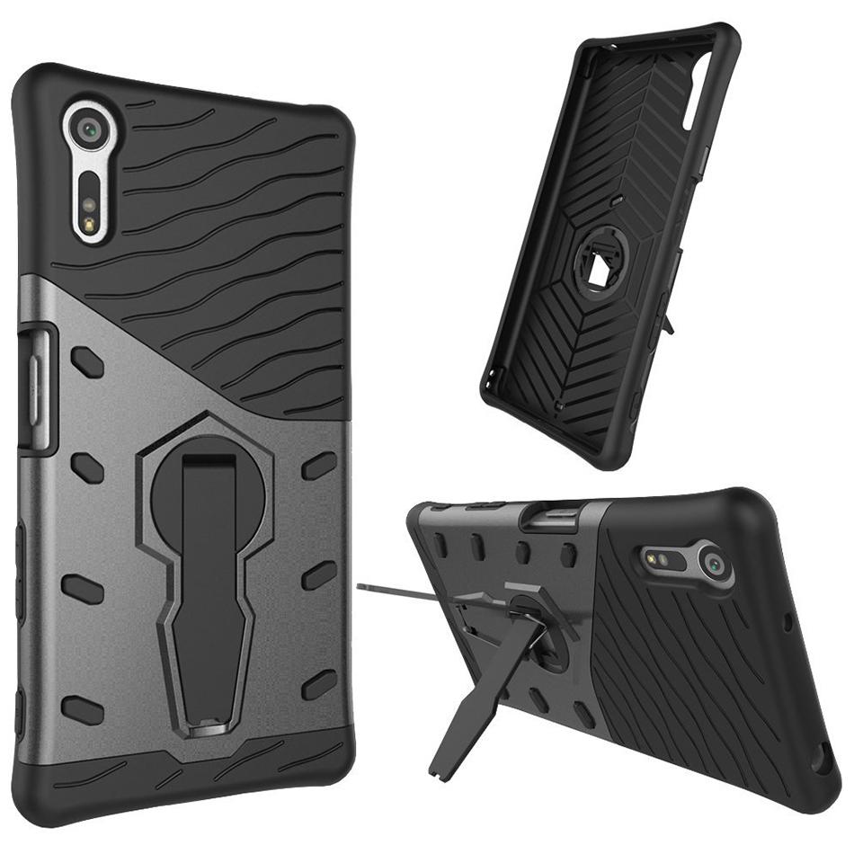 official photos 75e10 c7fab Shield Tough Shockproof Case Stand - Sony Xperia XZ (Grey)
