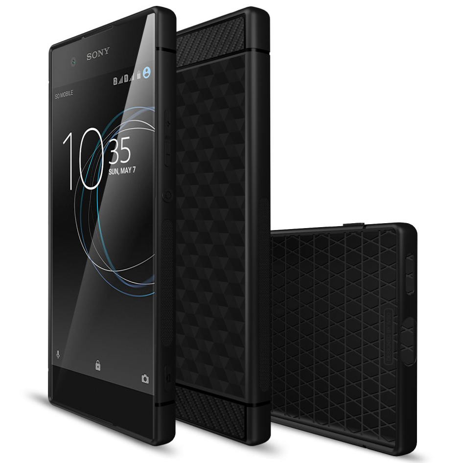san francisco 3f8e5 43d60 Flexi Hexagon Carbon Fibre Case - Sony Xperia XA1 (Black)