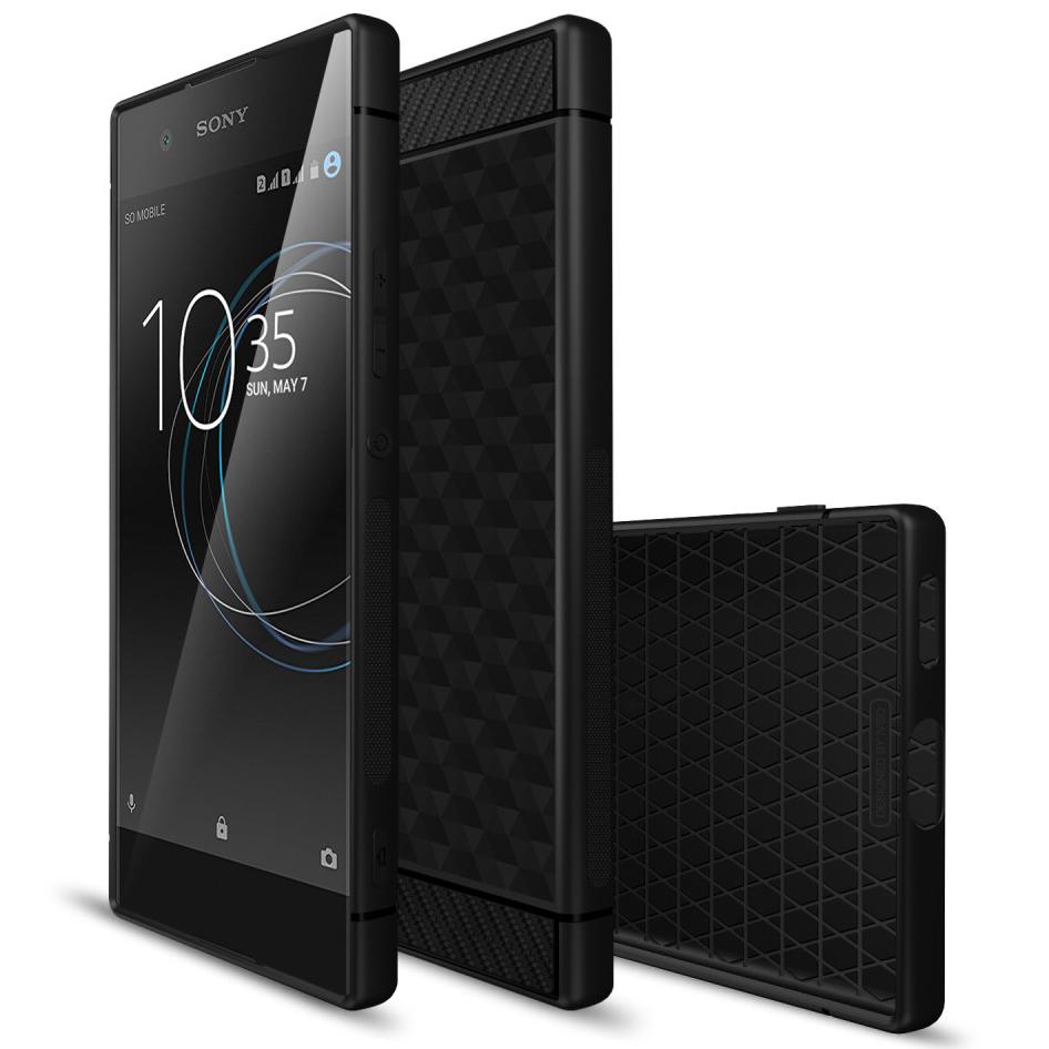 san francisco c78ac efc48 Flexi Hexagon Carbon Fibre Case - Sony Xperia XA1 (Black)