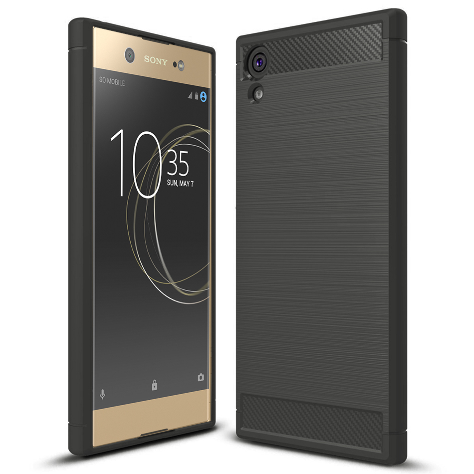 huge discount 3230a 59d64 Flexi Carbon Fibre Tough Case - Sony Xperia XA1 Ultra (Grey)