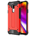 Military Defender Shockproof Case for LG G7 ThinQ - Red