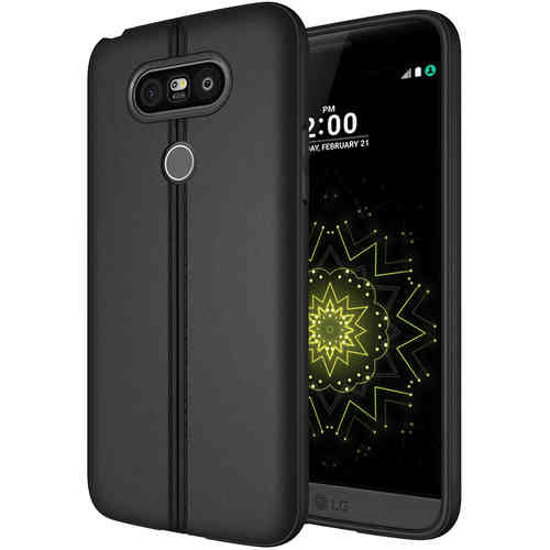 Double Lines Textured Stitch Slim Case for LG G5 - Black