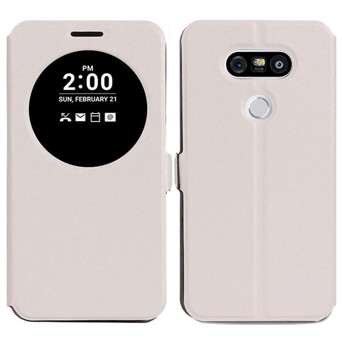 timeless design 8249f 32594 Quick View Window Flip Case - LG G5 (White)