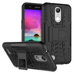 Dual Layer Rugged Tough Case for Telstra Signature 2 / LG K10 - Black