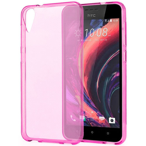 Flexi Gel Crystal Case for HTC Desire 825 - Pink (Gloss Grip)