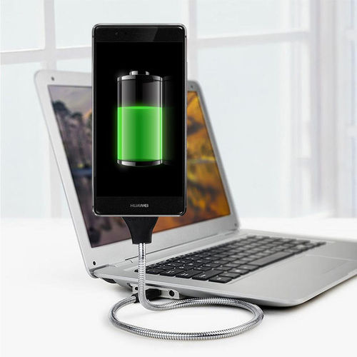 Heavy Duty Flexible Metal Micro USB Charging Cable Holder & Stand