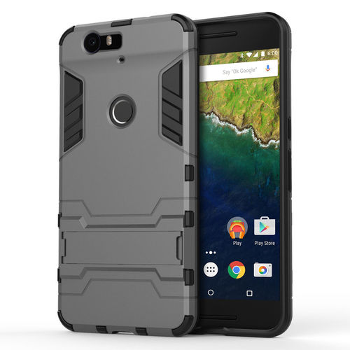 Slim Armour Rugged Tough Shockproof Case for Google Nexus 6P - Grey
