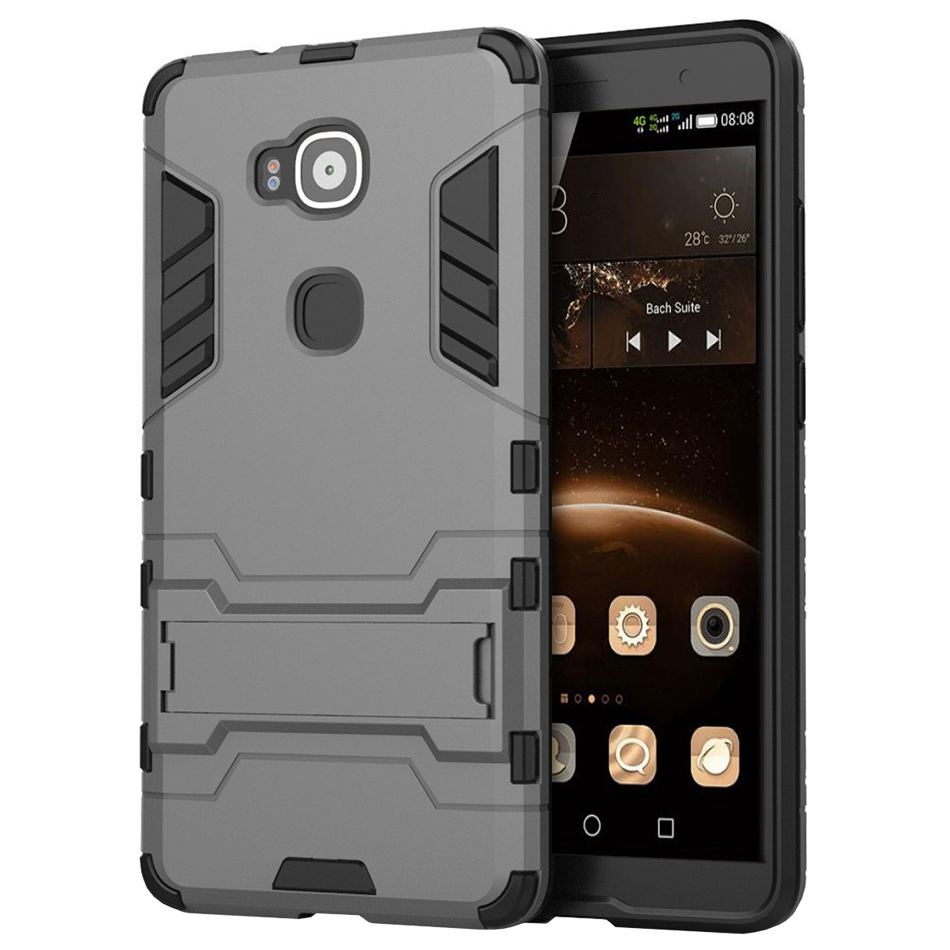 Slim Armour Tough Shockproof Case Huawei G8 Silver For