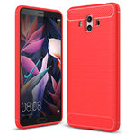 Flexi Carbon Fibre Shockproof Case for Huawei Mate 10 - Brushed Red