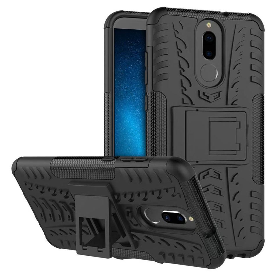 new product ba44f e5903 Dual Layer Tough Shockproof Case - Huawei Nova 2i (Black)