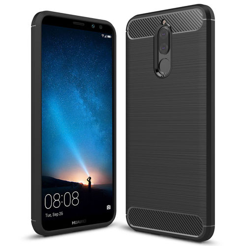 Flexi Carbon Fibre Shockproof Case for Huawei Nova 2i (Brushed Black)