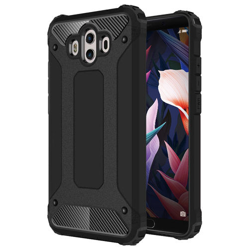 Military Defender Tough Shockproof Case for Huawei Mate 10 - Black