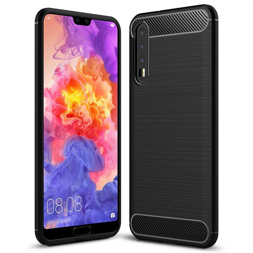 Flexi Carbon Fibre Tough Case for Huawei P20 Pro - Brushed Black
