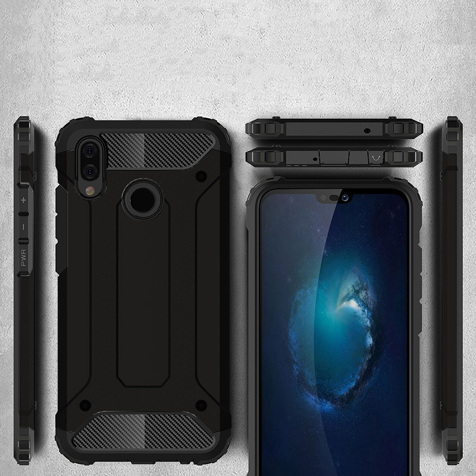 Military Defender Shockproof Case - Huawei Nova 3e (Black)