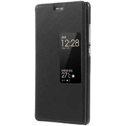 Window Display Flip Case & Stand for Huawei P9 - Black