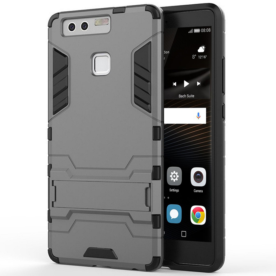online store c993d 1d85b Slim Armour Tough Shockproof Case - Huawei P9 (Silver)