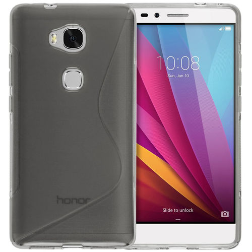 S-Line Flexi Gel Case for Huawei GR5 (2015) / Honor 5X - Grey (Clear)