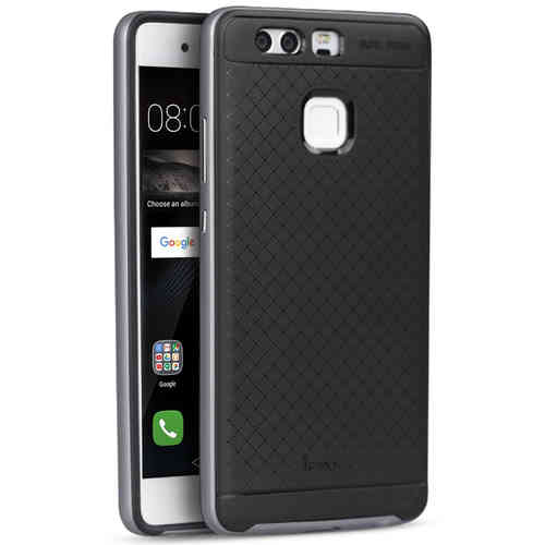 iPaky Hybrid Bumper Frame Case for Huawei P9 - Grey