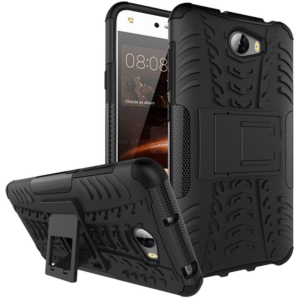 buy online c3859 eb48c Rugged Tough Shockproof Case - Huawei Y6 Elite / Y5II (Black)