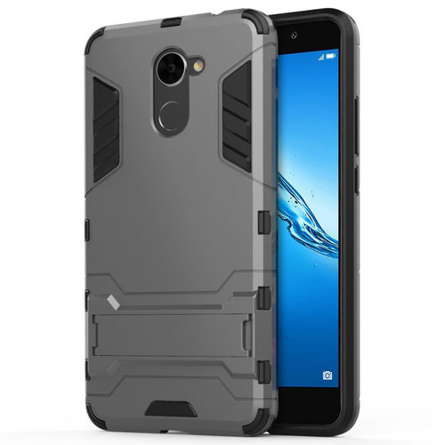 Slim Armour Tough Shockproof Case for Huawei Y7 - Grey