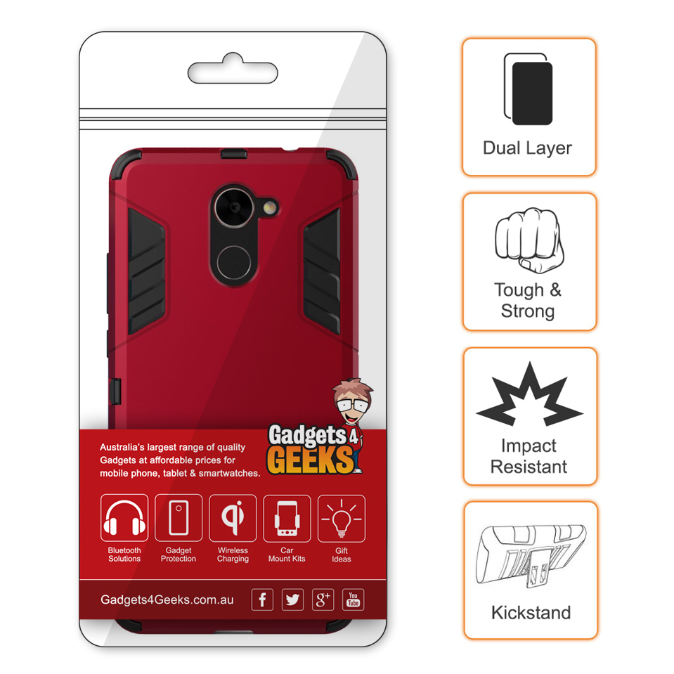Slim Armour Tough Shockproof Case - Huawei Y7 (Red)