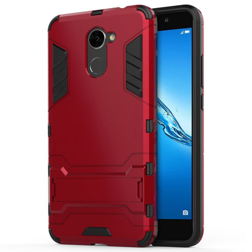 Slim Armour Tough Shockproof Case for Huawei Y7 - Red