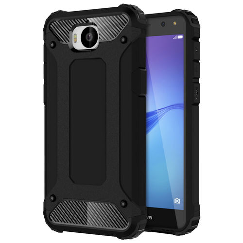 Military Defender Tough Shockproof Case for Huawei Y5 (2017) - Black