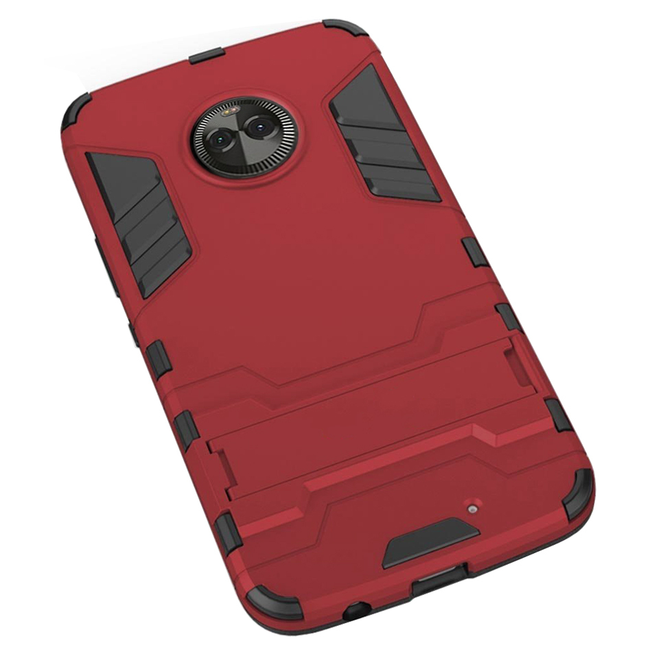 huge discount fa518 0a08a Slim Armour Tough Shockproof Case - Motorola Moto X4 (Red)