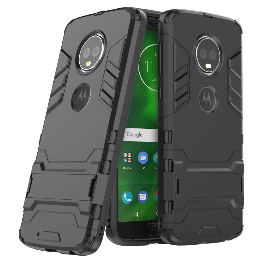 check out 773f1 8d963 Slim Armour Shockproof Case - Motorola Moto G6 (Black)