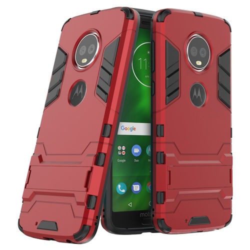Slim Armour Tough Shockproof Case for Motorola Moto G6 - Red