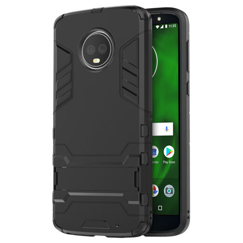 Slim Armour Tough Shockproof Case for Motorola Moto G6 Plus - Black