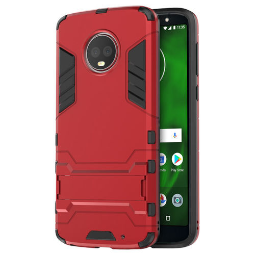 Slim Armour Tough Shockproof Case for Motorola Moto G6 Plus - Red