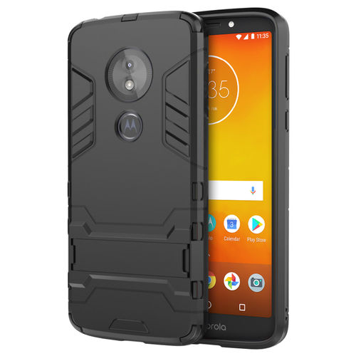 Slim Armour Tough Shockproof Case - Motorola Moto E5 / G6 Play - Black