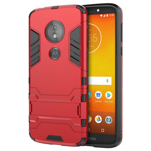 Slim Armour Tough Shockproof Case - Motorola Moto E5 / G6 Play - Red