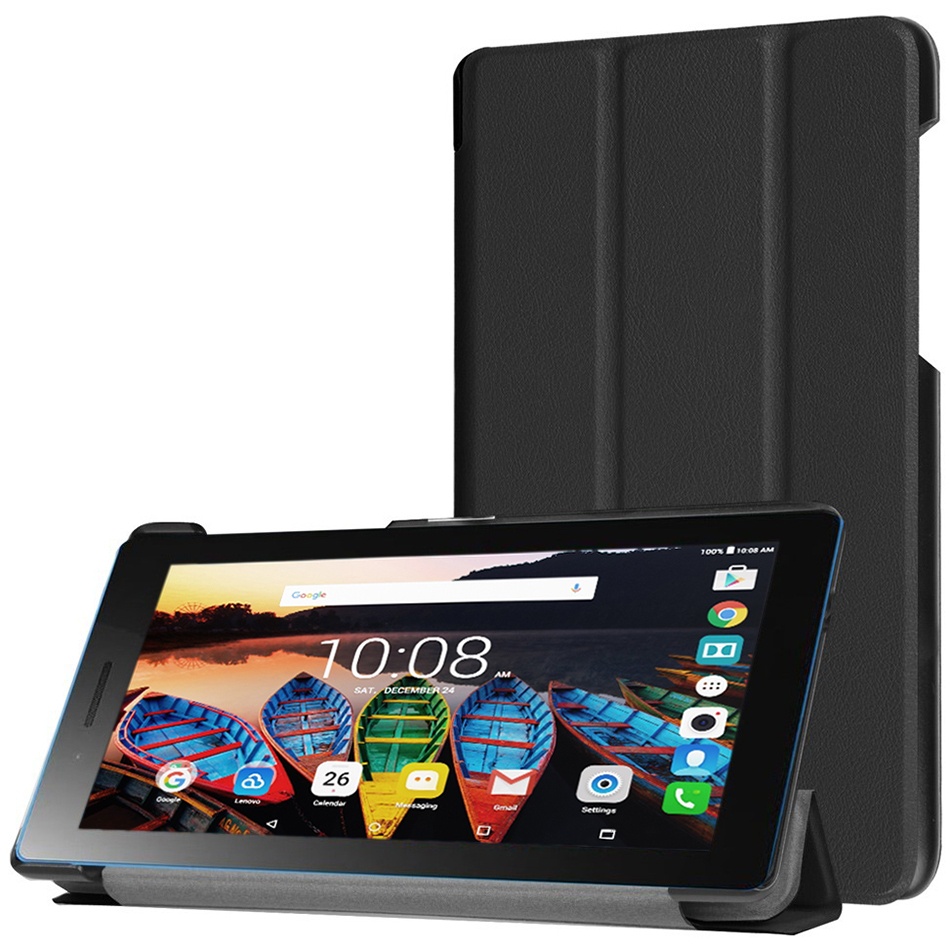 classic fit a0a77 d2802 Trifold Case Smart Cover - Lenovo Tab3 7 Essential (Black)