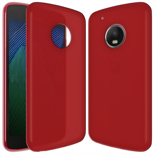 Flexi Gel Two-Tone Case for Motorola Moto G5 Plus - Red Frost