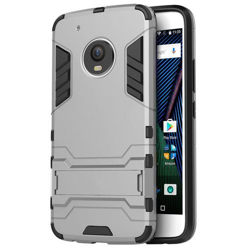 Slim Armour Tough Shockproof Case for Motorola Moto G5 Plus - Grey