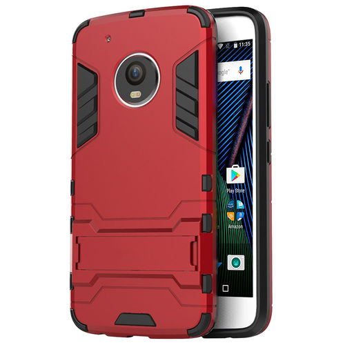 Slim Armour Tough Shockproof Case for Motorola Moto G5 Plus - Red