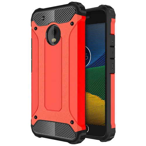 Military Defender Shockproof Case for Motorola Moto G5 - Red