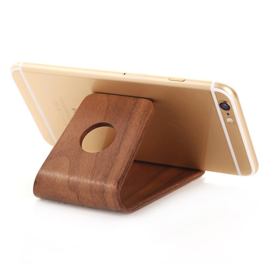 Samdi Wooden Desk Stand For Phones Coffee Walnut