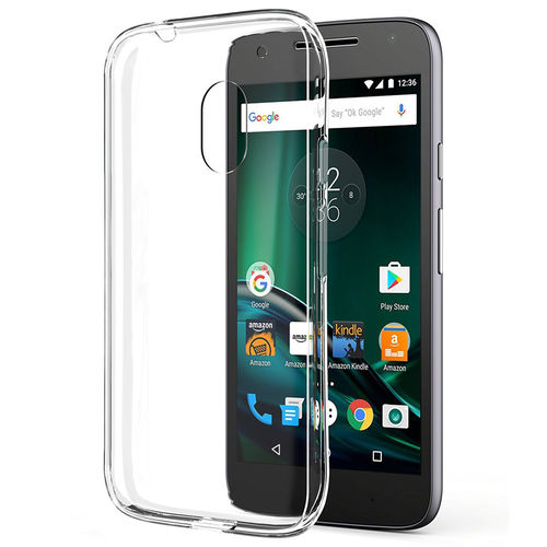 Flexi Slim Fit Clear Gel Case for Motorola Moto G4 Play (Transparent)