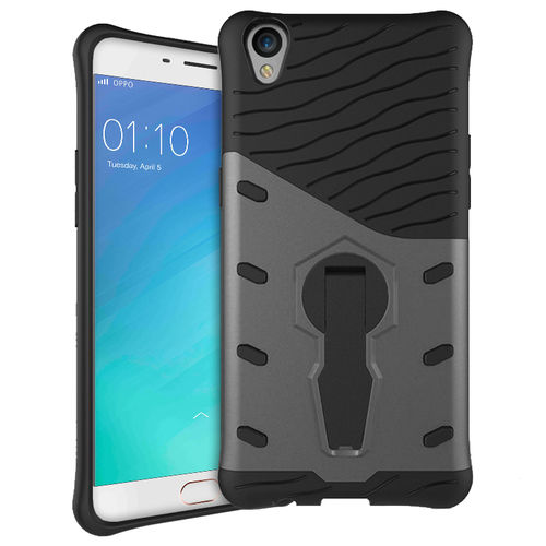 Slim Shield Tough Shockproof Case for Oppo R9 / F1 Plus - Grey