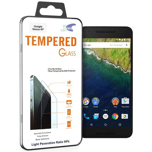 Calans 9H Tempered Glass Screen Protector for Google Nexus 6P - Clear